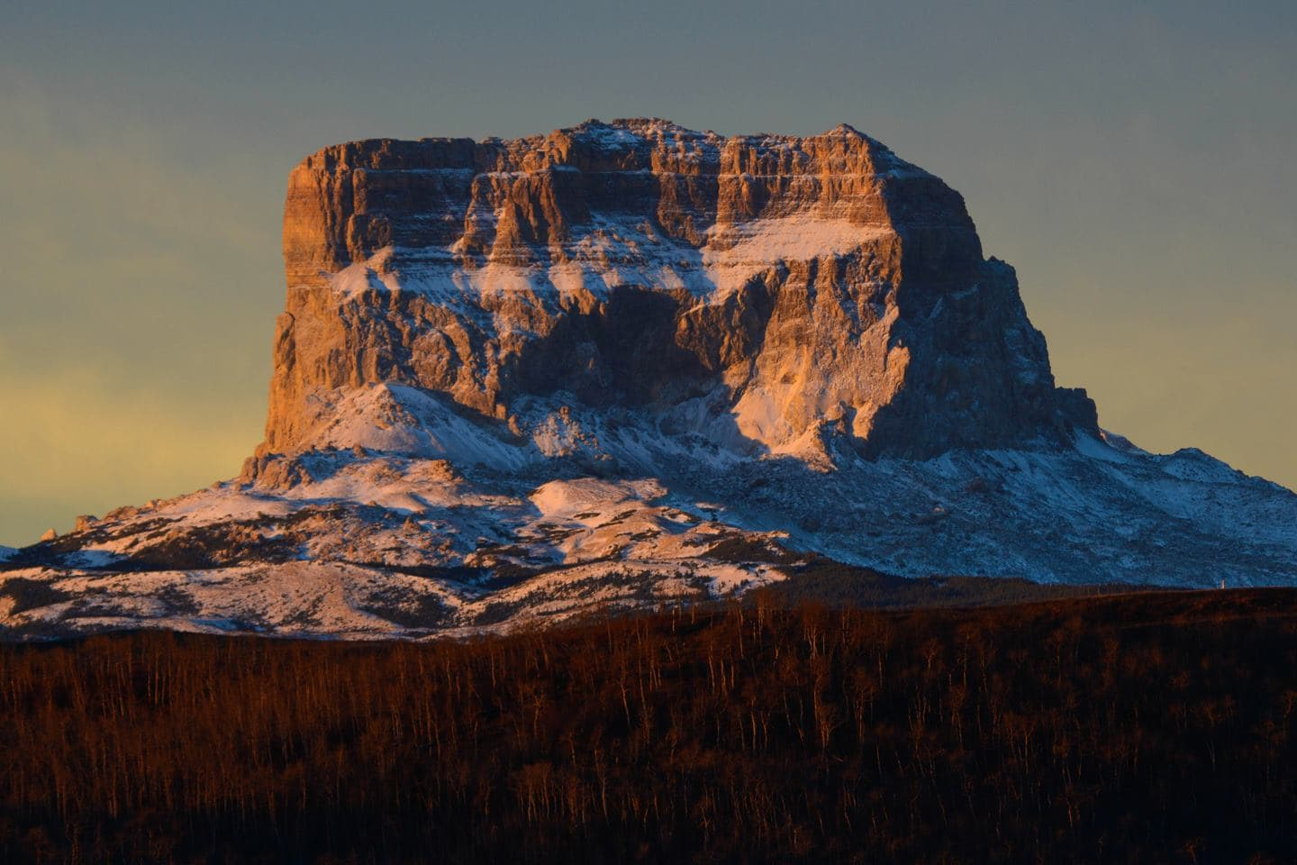 Chief Mountain - Sacred Mountain to the Blackfeet Nations, straddling the US-Canada border